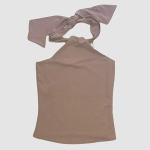Lavender stretch halter neck top from jacob